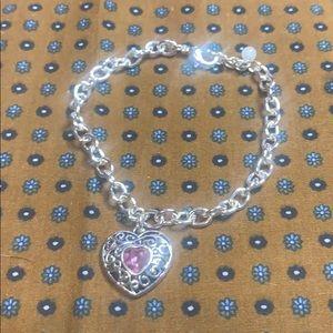 👑 Avon Heart Charm Bracelet -October